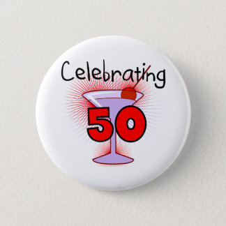 Celebrating 50 Tshirts and Gifts Button