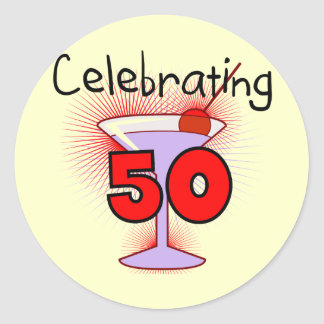 Celebrating 50 Tshirts and Gifts Classic Round Sticker