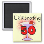 Celebrating 50 Tshirts and Gifts 2 Inch Square Magnet