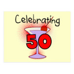 Celebrating 50 Tshirts and Gifts Postcard