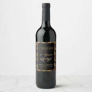 Celebrating 50 Years - Any Age Birthday Wine Label