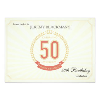 Celebrating 50 Years Birthday Invitation