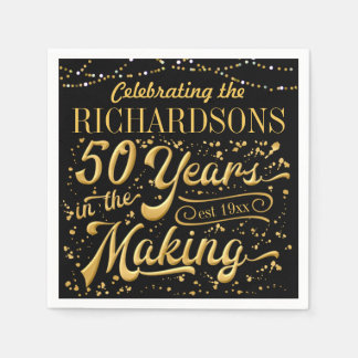 Celebrating 50 Years in the Making (50th Anniv) Paper Napkin
