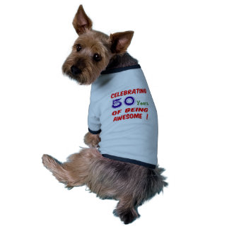 Celebrating 50 years of being awesome ! doggie tee