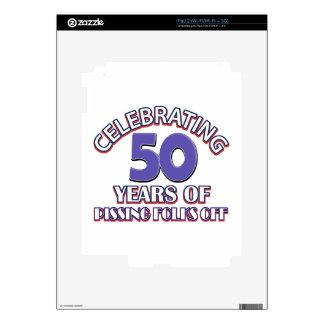 Celebrating 50 years of raising hell iPad 2 decal