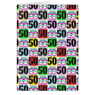 CELEBRATING 50 YEARS OLD CARD