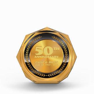 Celebrating 50th Anniversary. Customizable. Acrylic Award