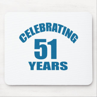Celebrating 51 Years Birthday Designs Mouse Pad
