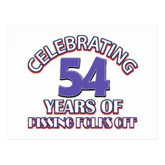 Celebrating 54 years of raising hell postcard