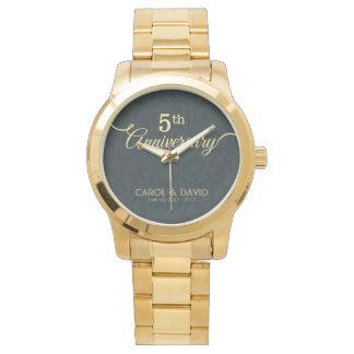 Celebrating 5th Anniversary. Customizable. Wrist Watch
