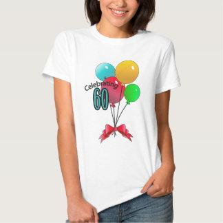 Celebrating 60 tee shirt