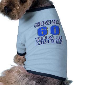 Celebrating 60 years of awesomeness dog t shirt