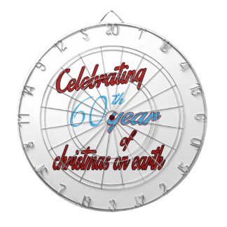 Celebrating 60th year of christmas on earth dartboards