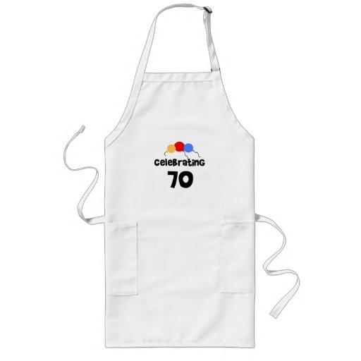 Celebrating 70 long apron