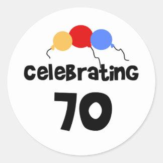 Celebrating 70 sticker