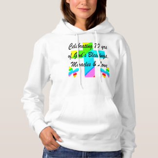 CELEBRATING 70TH BUTTERFLY AND CROSS DESIGN HOODIE