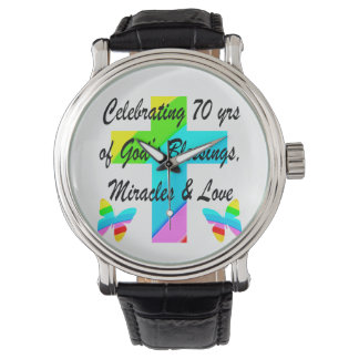 CELEBRATING 70TH BUTTERFLY AND CROSS DESIGN WATCH