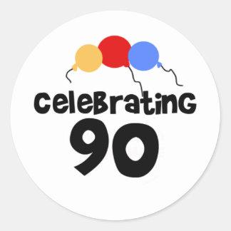 Celebrating 90 classic round sticker