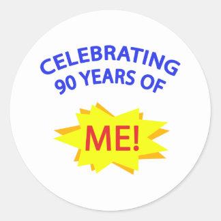 Celebrating 90 Years Of Me! Classic Round Sticker