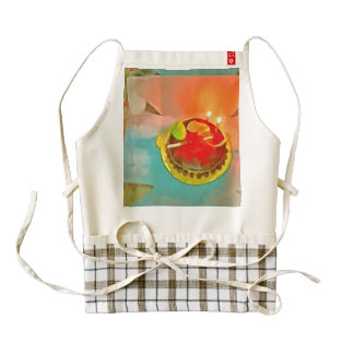 Celebrating a birthday zazzle HEART apron
