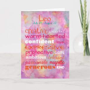 Celebrating A Leo Birthday Card