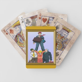 Celebrating a promotion bicycle playing cards