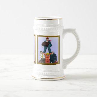Celebrating a promotion mug