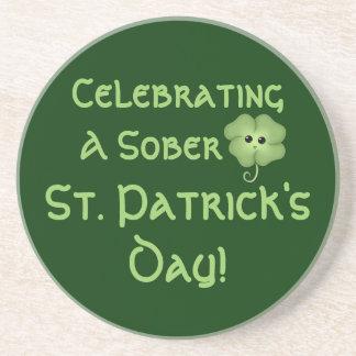 Celebrating A Sober St. Patrick's Day Coaster