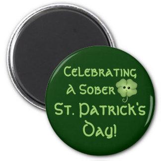 Celebrating A Sober St. Patrick's Day Refrigerator Magnets