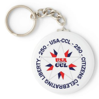 Celebrating America's 250th or CCL Birthday Keychain
