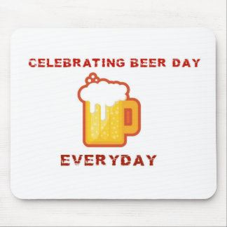 Celebrating Beer Day Mouse Pads