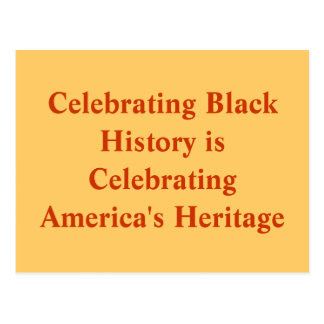 Celebrating Black History Postcard