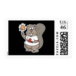 celebrating canada day beaver postage