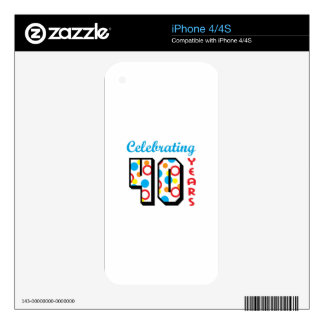 CELEBRATING FORTY DECALS FOR THE iPhone 4