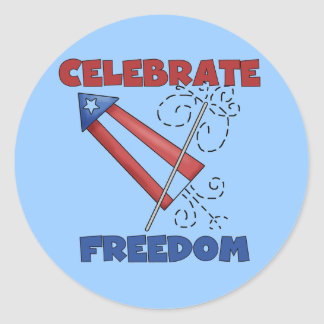 Celebrating Freedom Tshirts and Gfits Classic Round Sticker