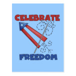 Celebrating Freedom Tshirts and Gfits Postcard