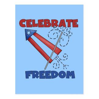 Celebrating Freedom Tshirts and Gfits Postcard