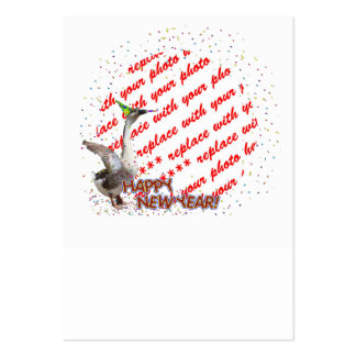 "Celebrating Geese ""Happy New Year' Photo Frame Large Business Cards (Pack Of 100)"