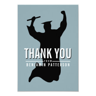Celebrating Graduate Personalized Thank You Card