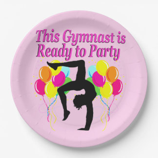 CELEBRATING GYMNASTICS PARTY PAPER PLATES