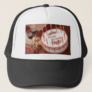 Celebrating Hundred Years with Cake and Wine Trucker Hat