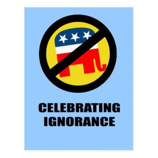 Celebrating Ignorance Postcard