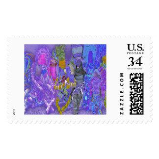Celebrating Individualism & Autism Dolls Stamp