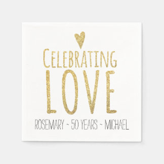 Celebrating Love | 50th Wedding Anniversary Paper Napkin