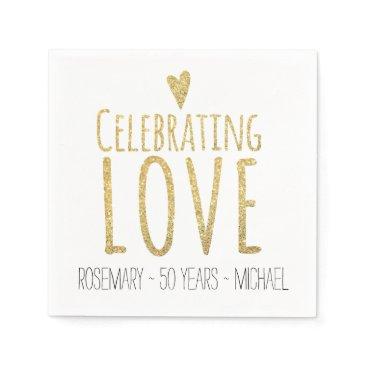labellarue Celebrating Love | 50th Wedding Anniversary Paper Napkin