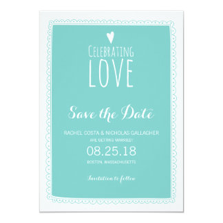 Celebrating Love | Save the Date Card