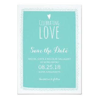 Celebrating Love   Save the Date Custom Announcement