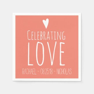 Celebrating Love | Wedding Napkin