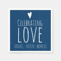 Celebrating Love | Wedding Paper Napkin