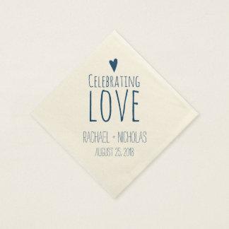 Celebrating Love Wedding Disposable Napkins